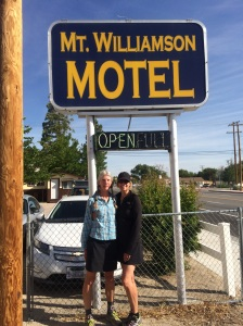 My Williamson Motel and Base Camp in Independence, owned and operated by Strider standing next to me:  Love this place!