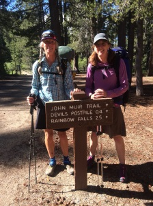 Catwater and Dawg Breath (aka my little sister) heading from Mammoth to Tuolumne Meadows