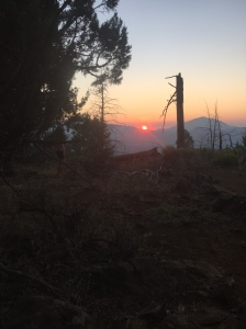 Sunset on Hat Creek Rim